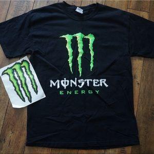 Monster Energy shirt and sticker